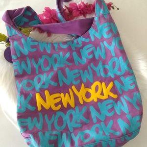 Robin-Ruth Purple Blue Yellow New York Boho Bag
